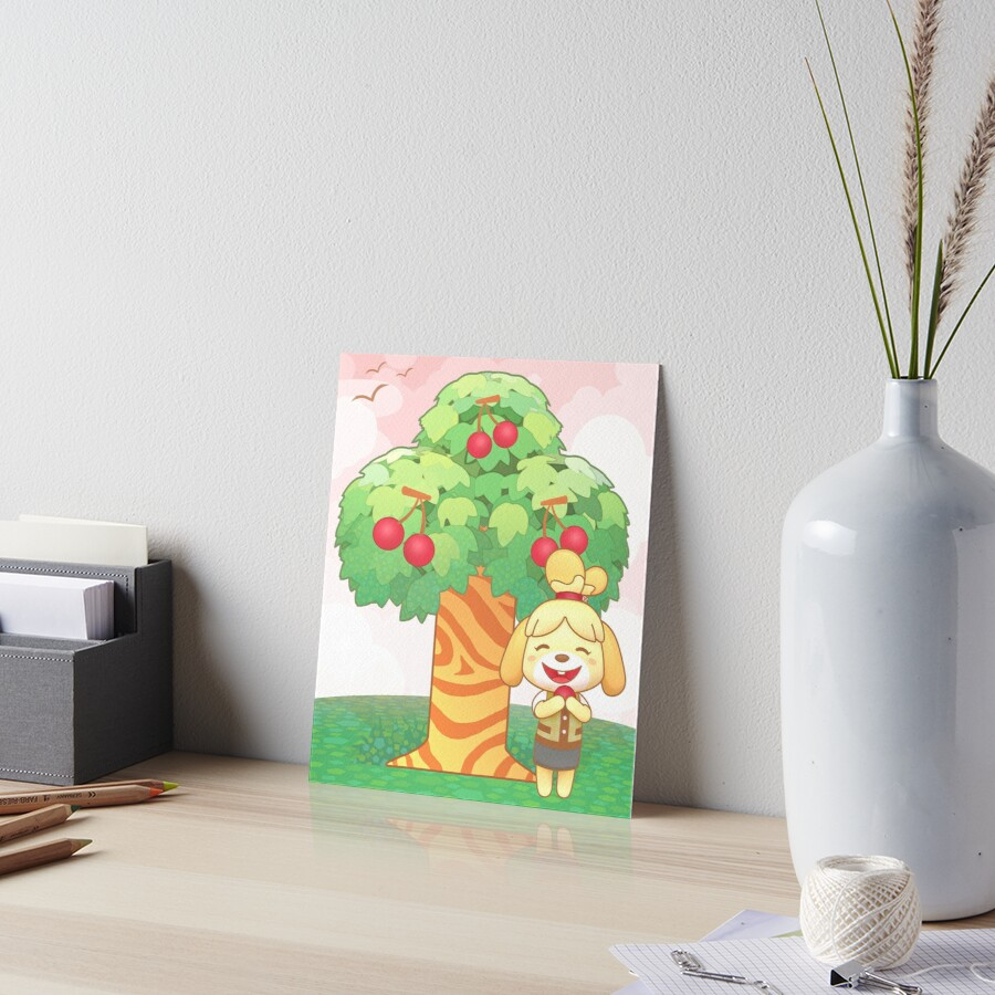 Isabelle & Cherries Art Board Print