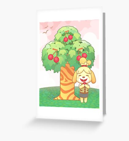 Isabelle & Cherries Greeting Card