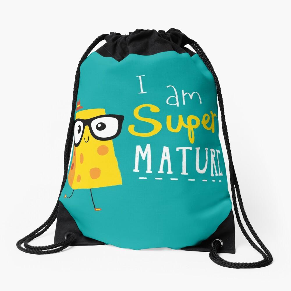 Super Mature Drawstring Bag