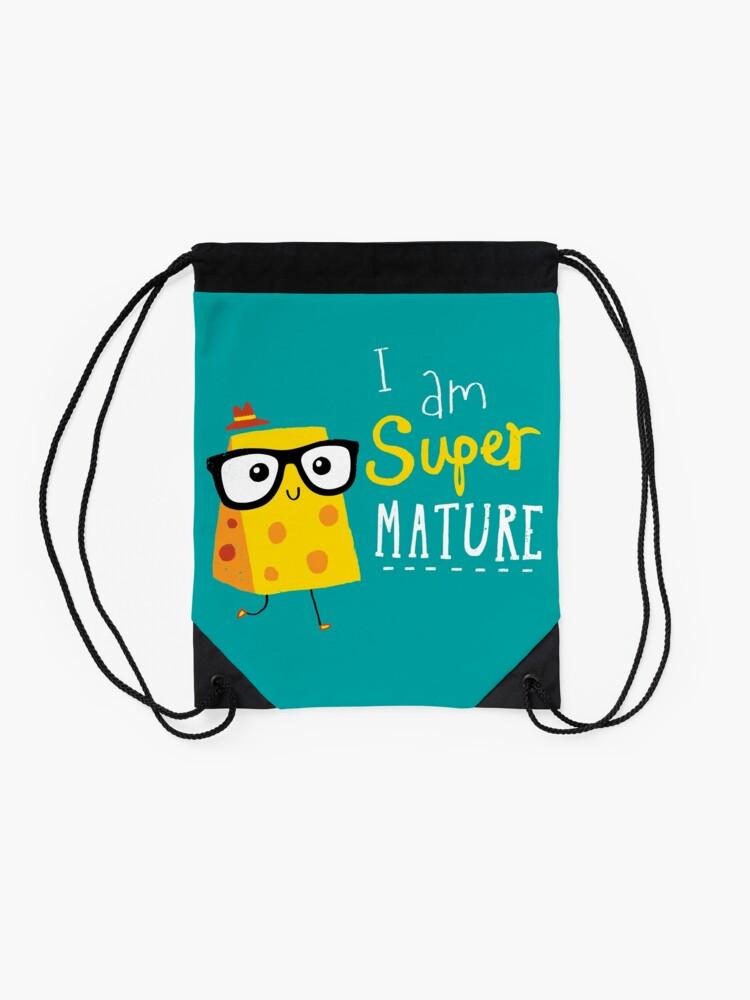 Alternate view of Super Mature Drawstring Bag