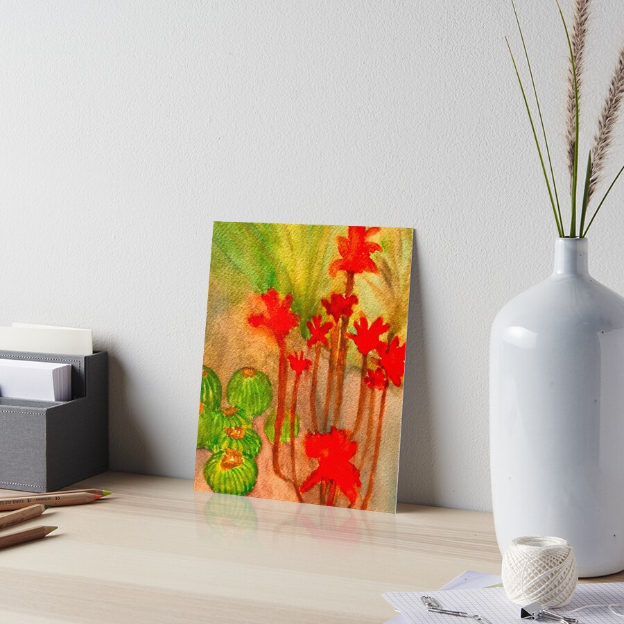 Aloe Striata  Art Board Print