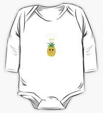 Pineapple Shirt Be Kind And Truthful Pineapple Gift Tee Baby Body Langarm