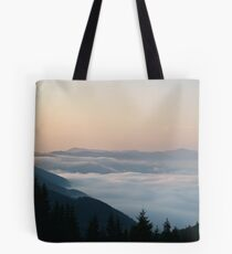 Morning above cloudscape Tote Bag