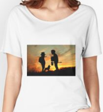 Old friends Converge at Dusk... Women's Relaxed Fit T-Shirt