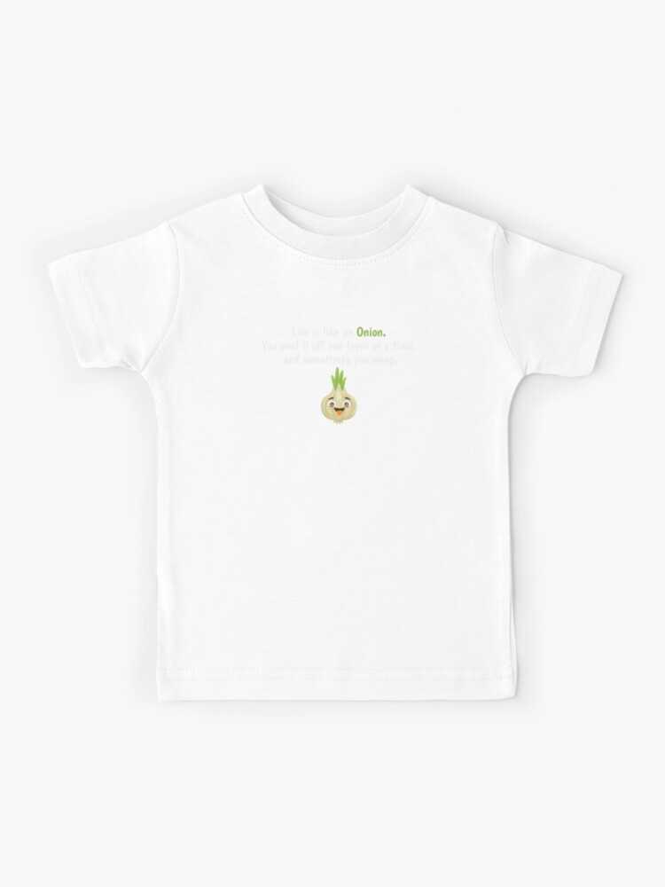 a6950281d9190 Life Is Like An Onion Vegetable Shirt Funny Gift Tee | Kids T-Shirt