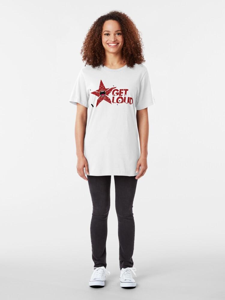Alternate view of Get Loud!!! Slim Fit T-Shirt