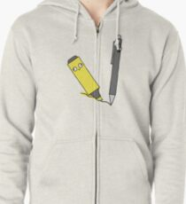 A Marked Pen Zipped Hoodie