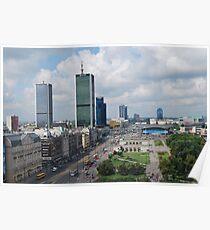 Aleje Jerozolimskie - Jerusalem Avenue in Warsaw, Poland Poster