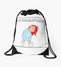 A different angle Drawstring Bag