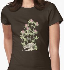 Red Clover All Over Women's Fitted T-Shirt