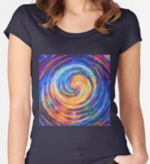 Abstraction of vortex wave Fitted Scoop T-Shirt
