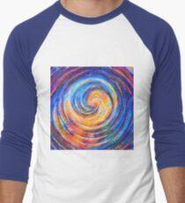 Abstraction of vortex wave Baseball ¾ Sleeve T-Shirt