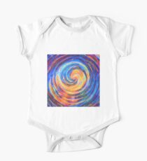 Abstraction of vortex wave Short Sleeve Baby One-Piece