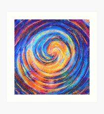 Abstraction of vortex wave Art Print