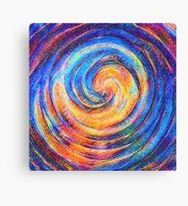 Abstraction of vortex wave Canvas Print