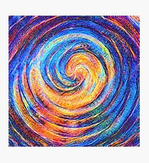 Abstraction of vortex wave Photographic Print