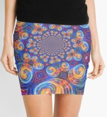 Abstraction of vortex wave Mini Skirt