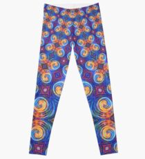 Abstraction of vortex wave Leggings
