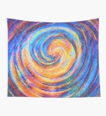 Abstraction of vortex wave Wall Tapestry