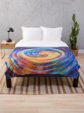 Abstraction of vortex wave Throw Blanket