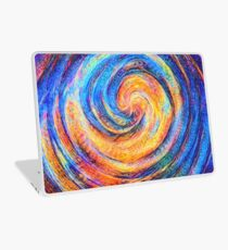 Abstraction of vortex wave Laptop Skin