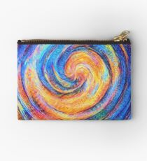 Abstraction of vortex wave Zipper Pouch