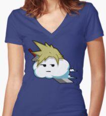 Cloud Puns! Women's Fitted V-Neck T-Shirt