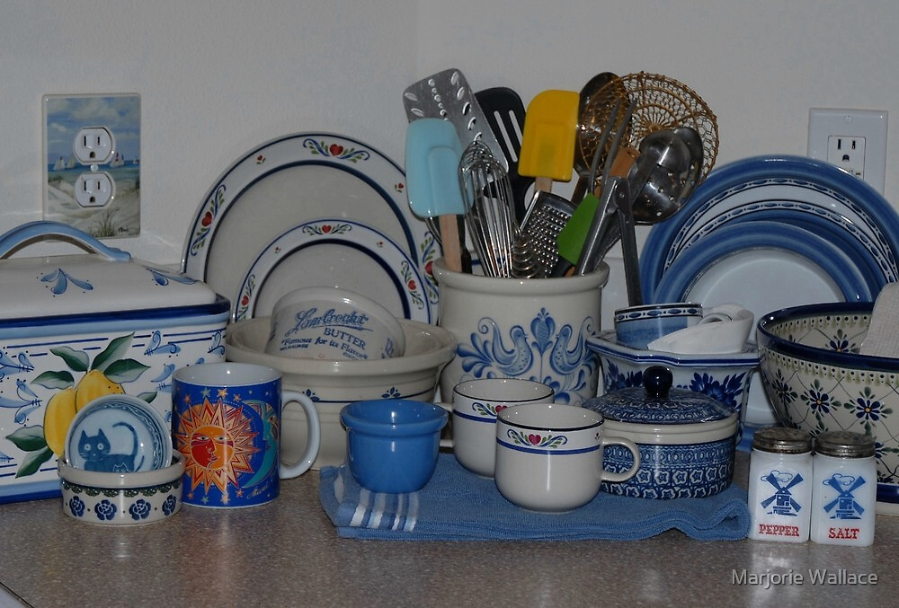 Cottage kitchen blues by Marjorie Wallace
