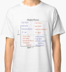 Camiseta clásica La física moderna. Newtoniana, #Relativista #Mecánica, Schrodinger #Equation, Dirac