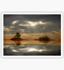 Magical light and water reflections landscape Sticker