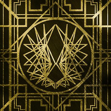 Art Deco Wings-Gold by maddiesh