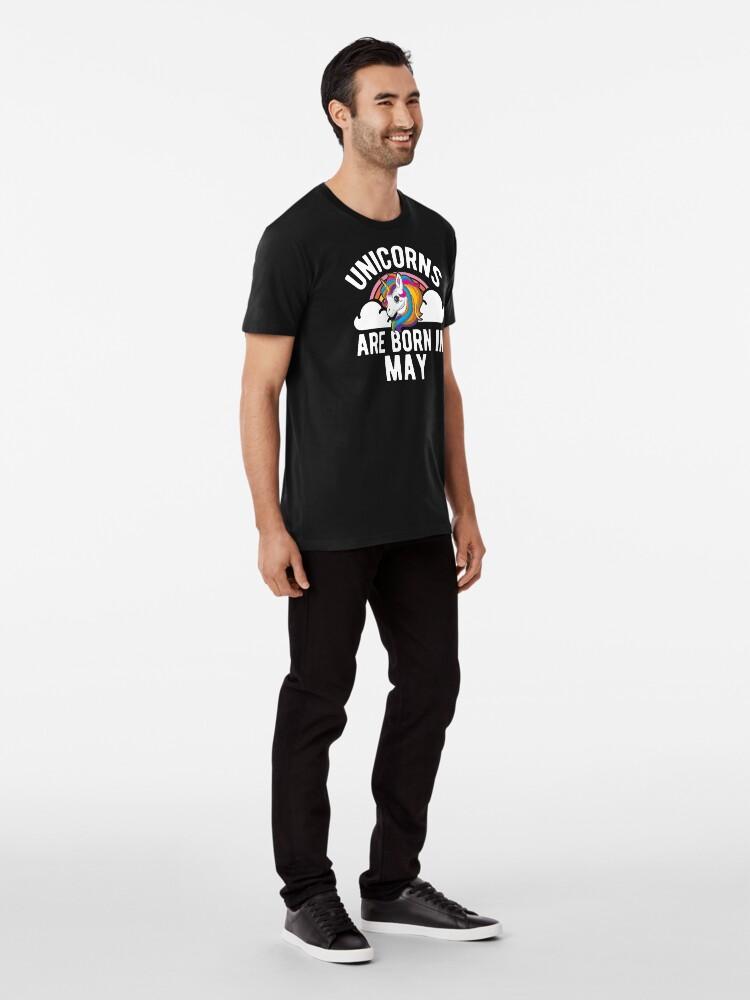 Alternative Ansicht von Unicorns Are Born In May Shirt Birthday Month Gift Tee Premium T-Shirt