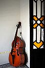 Double Bass in Valles Palace, Cienfuegos, Cuba by David Carton