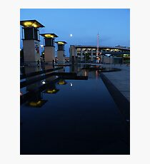 Moonlight and Shadows - Bristol Docks Photographic Print