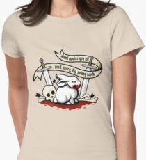 The Rabbit of Caerbannog Women's Fitted T-Shirt
