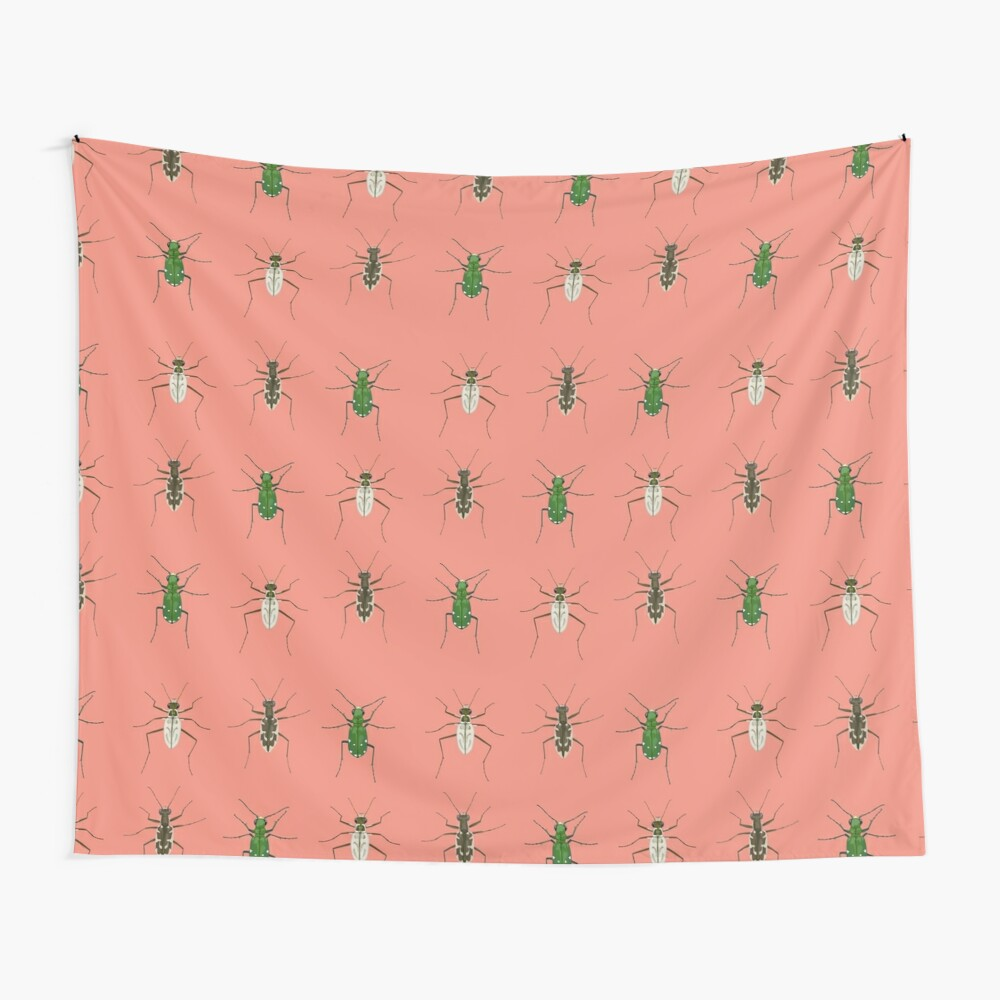 Tiger beetle trio Wall Tapestry
