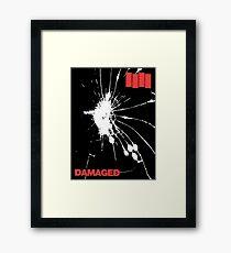 Black Flag - Damaged Framed Print