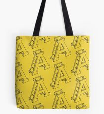 Letter A - Yellow Tote Bag
