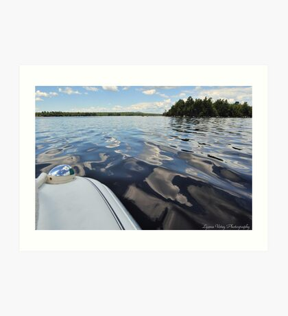 Boat Ride to Cow Island Art Print
