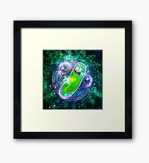 Pickle Rick in Space | Rick and Morty | Flower of Life Framed Print