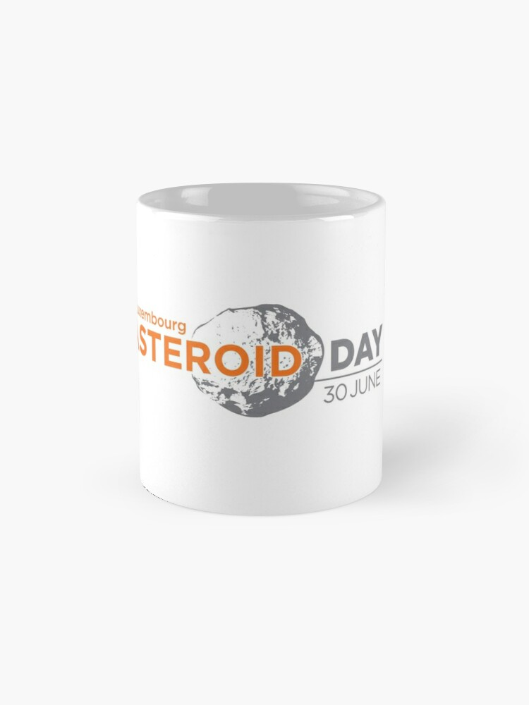 Alternate view of Asteroid Day Luxembourg Mugs
