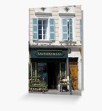 characteristic facades France Greeting Card