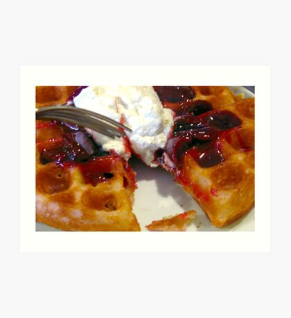 Belgian Waffles at Ruby's Art Print