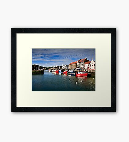 Eyemouth Harbour, Scottish Borders, Scotland Framed Print