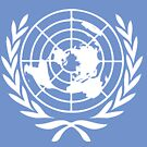 UNITED NATIONS FLAG Vintage Art by Bruce ALMIGHTY Baker