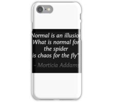 Normal is an illusion motivation quote iPhone Case/Skin
