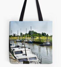 Little yacht port of Lillo - near Antwerp Tote Bag