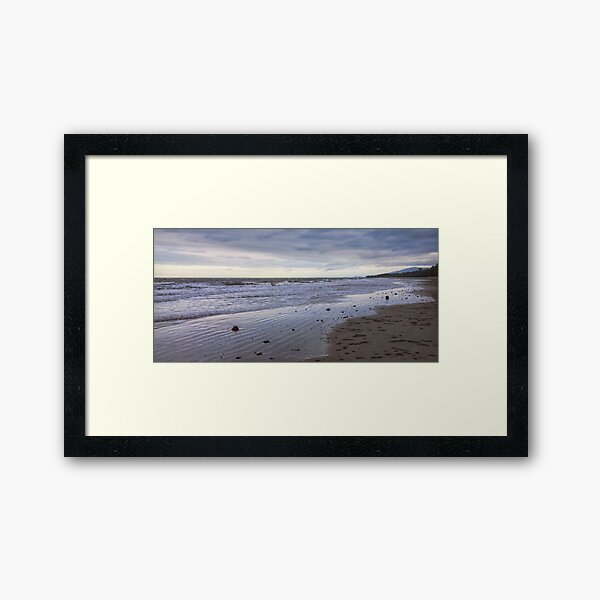 A panoramic view of the beach at Cape Tribulation Framed Art Print