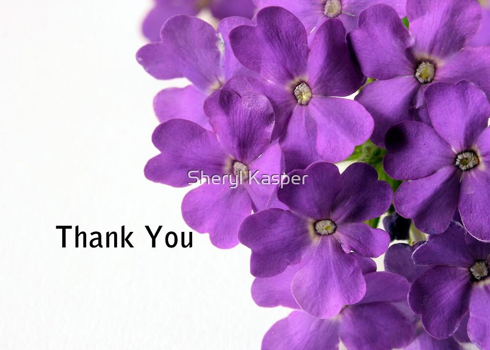 """""""Purple Flower Thank You"""" by Sheryl Kasper"""