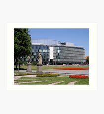Norman Foster`s Metropolitan building - Warsaw, Poland Art Print